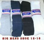 12 Pairs BIG MENS Physicians Choice OVER THE CALF Cushioned Diabetic Socks 13-15
