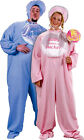 Be My Baby Adult Plus Size Pajama Jumpsuit Costume