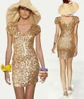 Sexy Lady Evening Party Cocktail Bridesmaid Wedding Bling Sequin Dress 6-14 9996