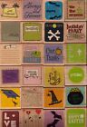 HAMPTON ARTS Assorted WOOD MOUNTED STAMPS Your Choice Size 2x2 HOLIDAYS & more