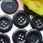 Black 4 Holes Plastic Buttons Sewing Cardmaking Scrapbooking 17mm,27mm,33mm