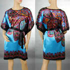Pretty Ladies Tropical Flower Print Kimono Sleeves Top Blouse&Dress 6-14 921
