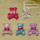 Cute Bear Sequin Appliques Padded Craft Sewing Scrapbooking Trim XHCT