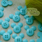 LakeBlue Mickey Shape 20mm Plastic Buttons Sewing Scrapbooking Collectable Craft