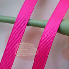 50 Yards Magenta Grosgrain Ribbons Sewing Scrapbooking Craft 6mm,10mm,15mm #33