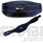 weight lifting body building belt gym fitness wide padded leather colour black