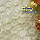 Clear Flat Round 12mm Plastic Buttons Sewing Scrapbooking Craft FHB02