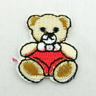 Red Nappy Bear Sew/Iron On Patches 23mm R0407