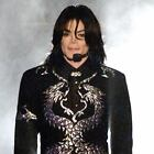 MICHAEL JACKSON IN BLACK AND SILVER FABRIC BLOCK NOT IRON ON CHOOSE SIZE