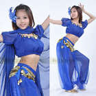 13 color Shinning Blouse with Pants 2pcs Set Belly Dance Costumes