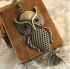 Fashion Lovely Owl Big Black Eyes Chain Necklace hot!!!