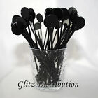 "7"" BLACK COCKTAIL STIRRERS SWIZZLE STICKS PACK OF 10, 25, 50,100, 250, OR 500"