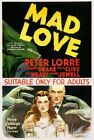 Vintage Old Movie Poster Mad Love 1935 01 Print Art A4 A3 A2 A1