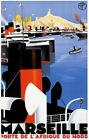 Vintage Old Transport Poster Marseille Port Ad 2 Print Art A4 A3 A2 A1