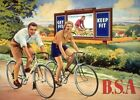 Vintage Old Transport Poster BSA bicycles Print Art A4 A3 A2 A1