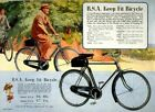 Vintage Old Transport Poster BSA Keep Fit Bicycle Print Art A4 A3 A2 A1