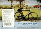 Vintage Old Transport Poster BSA Sports Tourist Bicycle 1938 A4 A3 A2 A1