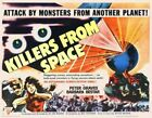 KILLERS FROM SPACE CLASSIC B-MOVIE REPRODUCTION ART PRINT A4 A3 A2 A1