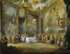 Charles (III) Dining Court Picture Reproduction Art Print A4 A3 A2 A1