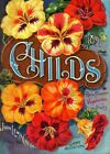 Childs Vintage Seed Cover Picture Art Print Canvas Poster A4 A3 A2 A1