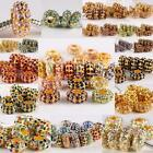 Wholesale Crystal Rhinestone 7x14mm Gold Loose Beads Fit Charms Bracelet Jewelry