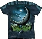 MOONSTONE - Blue T-Shirt - The Mountain- Tie Dyed Tee -100% Cotton-10-3075 NEW