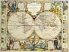 Vintage Map 26 The World Globe Atlas Art Print Canvas A4 A3 A2 A1