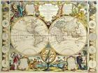 Vintage Map 26 The World Globe Atlas Art Print A4 A3 A2 A1