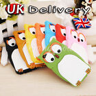 New Cute Owl Design 3D Silicone Back Case Cover Skin for Apple iPhone 4 4G 4S UK