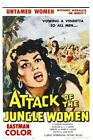 ATTACK OF THE JUNGLE WOMEN 01 B-MOVIE REPRODUCTION ART PRINT A4 A3 A2 A1