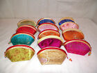 NEW ORIENTAL ASIAN EMBROIDERED SILK COIN HOLDER CHANGE PURSE BAG SEVERAL COLORS