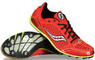 Saucony Endorphin LD Track & Field Shoes / Spikes Red / Citron New!