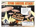 EARTH VS THE FLYING SAUCERS 2 B-MOVIE REPRODUCTION ART PRINT A4 A3 A2 A1