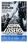 THE BORN LOSERS B-MOVIE REPRODUCTION ART PRINT A4 A3 A2 A1