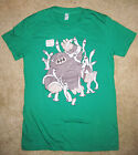 Apes & Androids T-Shirt Green Alien American Apparel Size Ladies Girlie Large L