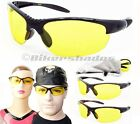 YELLOW lens Night Vision Glasses Driving Riding, Shooting Cycling Men Women