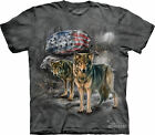 PRIDE ROCK - Gray Wolf Flag T-Shirt - The Mountain Classic -  Dyed Tee -10-3293