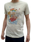 MENS cartoon tee tshirt retro vtg indie tshirt NEW S M L XL 80s 70s kitsch Beige