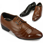 New Mens Black Brown Stylish Dress/Casual Lace Shoes Multi Colored