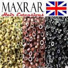 100 - 1000 MICRO RINGS SILICON LINED ( stick i tip hair extensions loop remy )