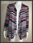 Ladies ** CLARITY by THREADZ ** Sizes M, L Stripe Stretch Cardigan - BNWT -