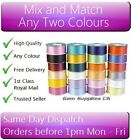 FLORIST RIBBON 2 x 5 METRES, MIX AND MATCH ANY 2 COLOURS, 50mm WIDE