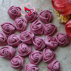 Plum 15mm Polyester Rose Trimming Sewing Scrapbooking Appliques HB15-165