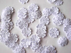 50 LARGER GUIPURE LACE FLOWERS 16MM WIDE BLACK, & WHITE AVAILABLE