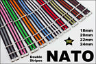G10 NATO NYLON MILITARY WATCH STRAP DOUBLE STRIPE