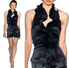 Lady Cocktail Evening Party&Casual Bridesmaid Ruffle Halter Top Shirt 6-16 1877