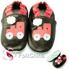 Soft Leather Baby Shoes 0-6,6-12,12-18,18-24 Months Train Brown KDS-GSO-L