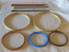 Vintage Metal Plastic Knitting Knit Needle Options Wood Plastic Embroidery hoop