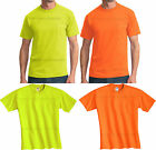 MENS Safety T-Shirt w/ Pocket High Visibility Safety Green Orange S-2X, 3X NEW