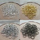 Charm Silver/Golden Plated Open Metal Jump Rings Jewelry Finding 3 Sizes Choose